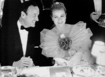 David Niven and grace kelly at dinner Party, 1950's