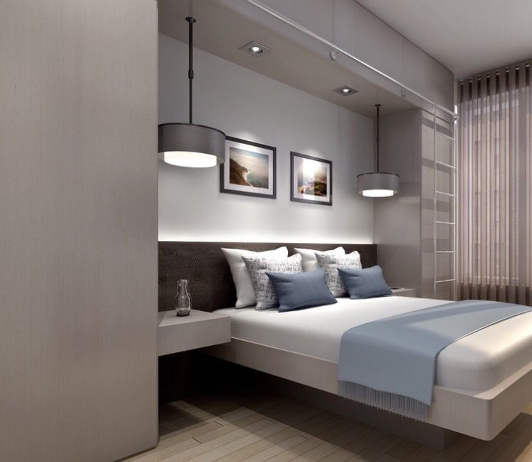 Bedroom Concept Furniture Placement Bulkhead And Lighting