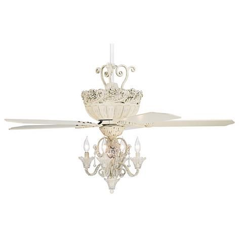 52 casa chic rubbed white ceiling fan with 4 light kit