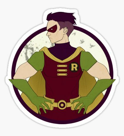 Teen titans robin sticker