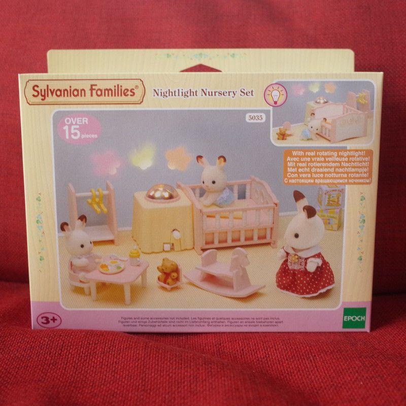 Sylvanian Families Nightlight Nursery Set 5035 Epoch Calico Critters Nursery Night Light Nursery Set Nursery