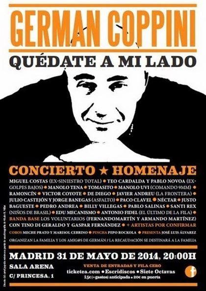 Concierto homenaje a Germán Coppini el 31 de mayo en Madrid