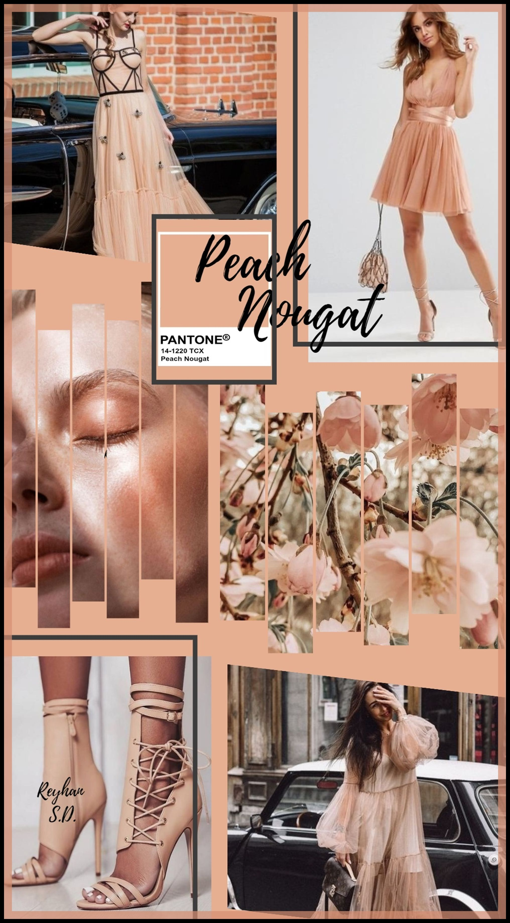 Peach Nougat Pantone Aw 2020 2021 Nyfw Color By Reyhan S D In 2020 Color Color Combinations Shades Of Orange