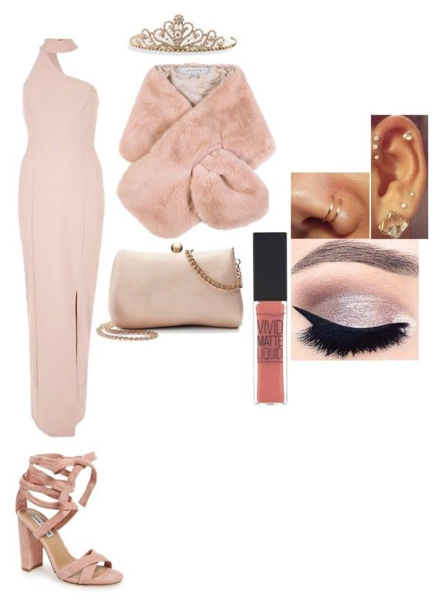 """""""Champagne princess"""" by carpediem123 ❤ liked on Polyvore featuring Steve Madden, Chesca, River Island, LC Lauren Conrad, Maybelline, tarte and BillyTheTree"""