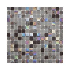 Mosaique Verre Gris Irise 2 X 2 Cm Verres Gris Verre Carrelage Mosaique