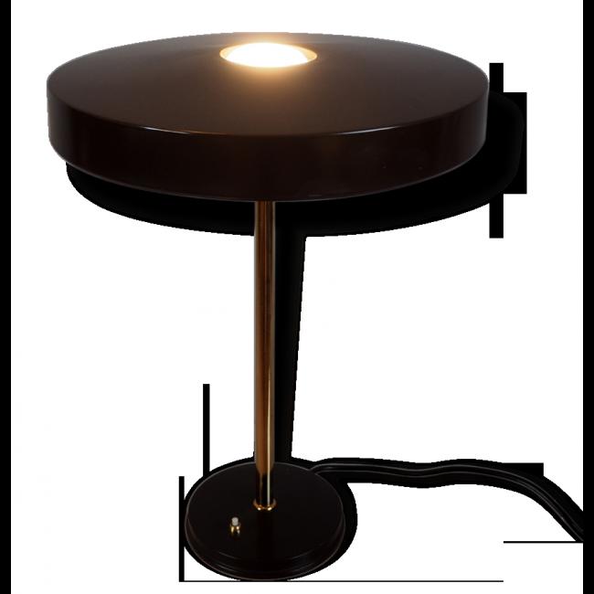 Stunning Lampe Timor louis Kalff pour Philips m tal marron bon tat vintage