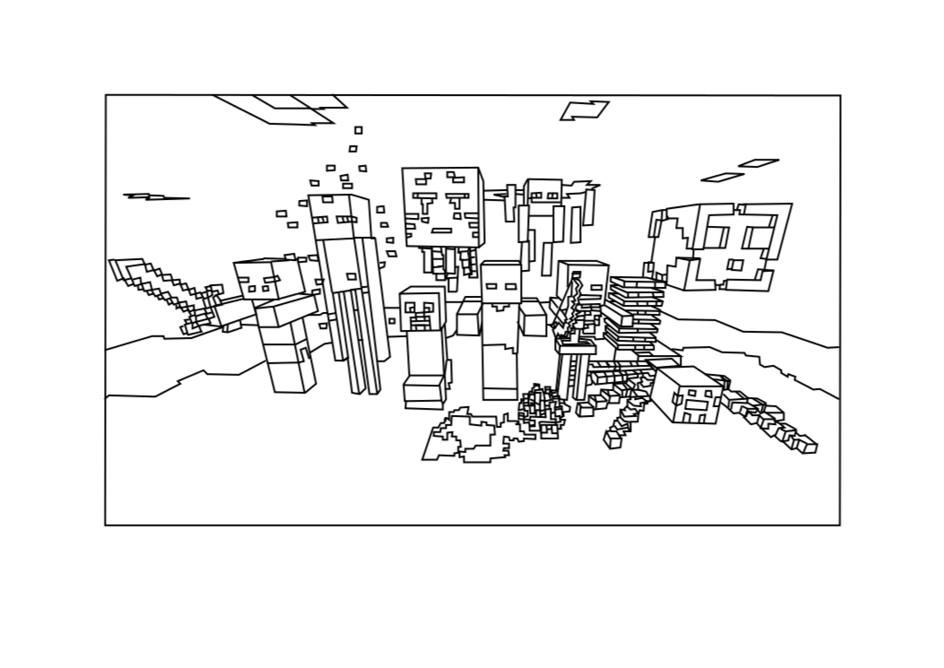Printable Minecraft Mobs coloring