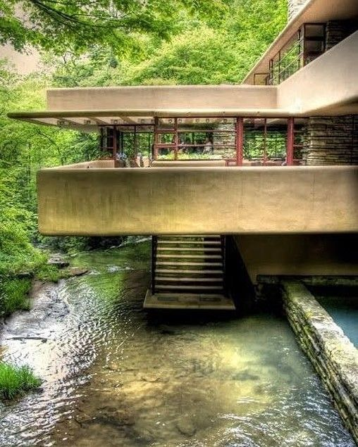 HBD Frank Lloyd Wright via stairporn- stair, design, designer Posted to Souda's Tumblr From the Pinterest Board: Architecture - Modern Buildings, Monuments, Landmarks,
