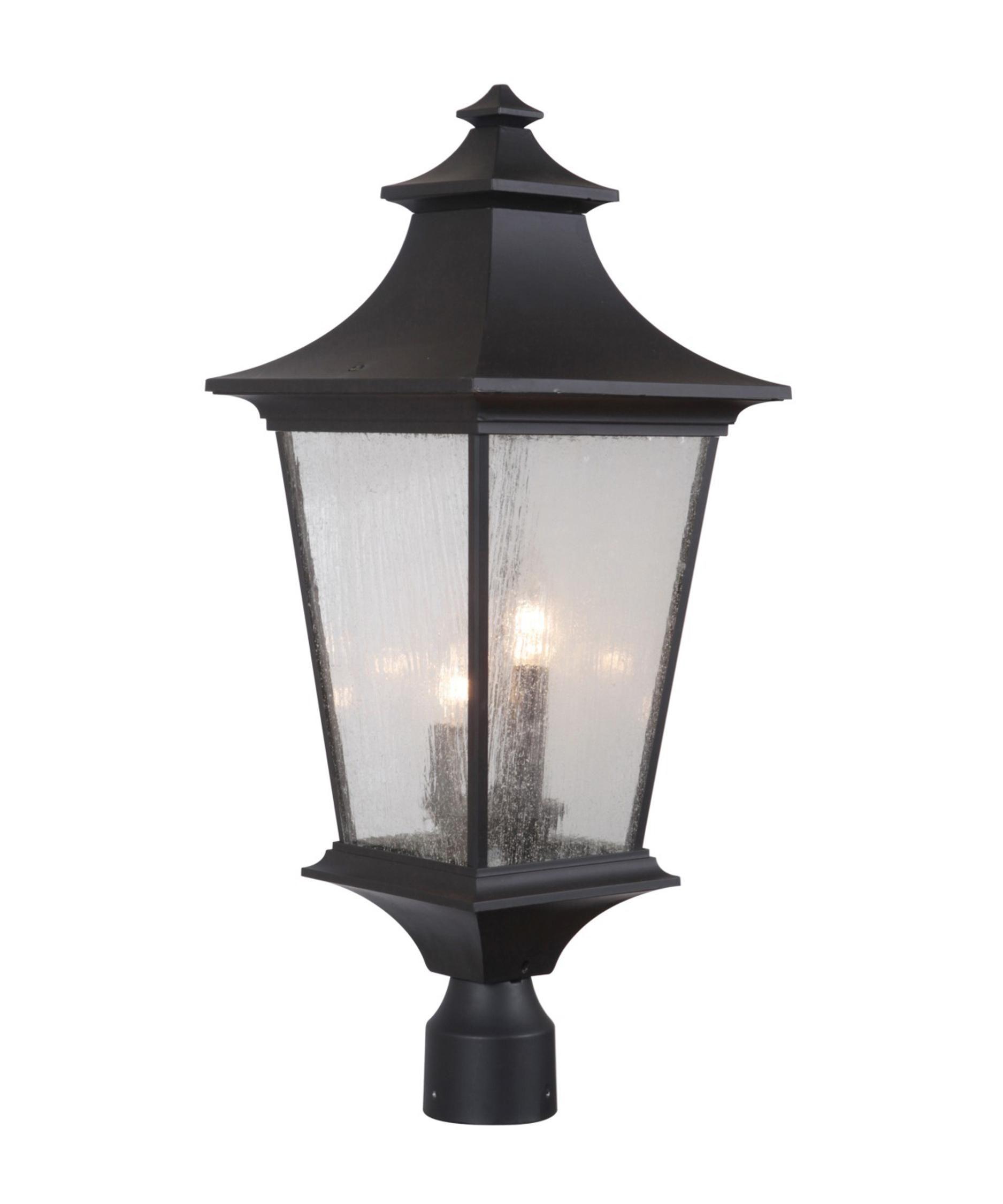 Craftmade Z1375 Argent Ii 3 Light Outdoor Post Lamp Outdoor Post Lights Post Lights Craftmade