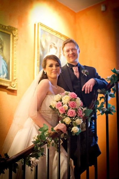 Bride And Groom At Fingask Castle Dundee Wedding Photography
