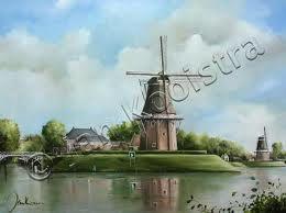 Schilderij gemaakt door Jan Kooistra. Bestemd voor de dag van de Toerist.