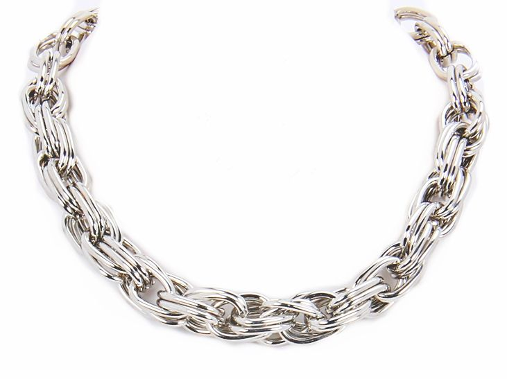Silver Stacked Chain Necklace for the 3rd Place Winner