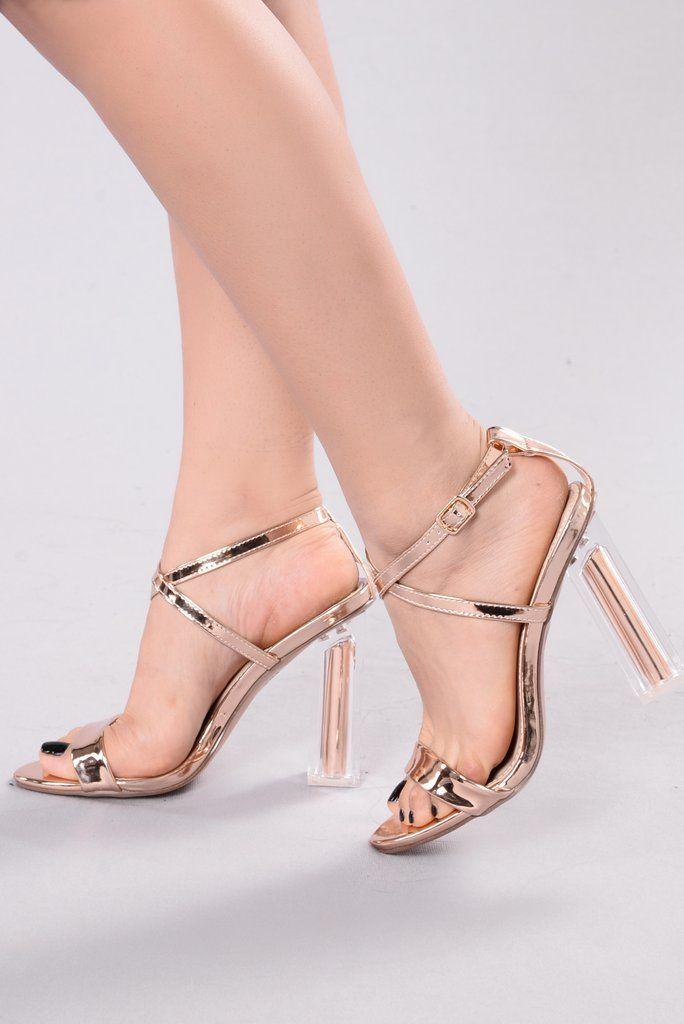 255ed88ab1a See You Tomorrow Heel - Rose Gold | Fashion Nova | Shoes | Wedding ...