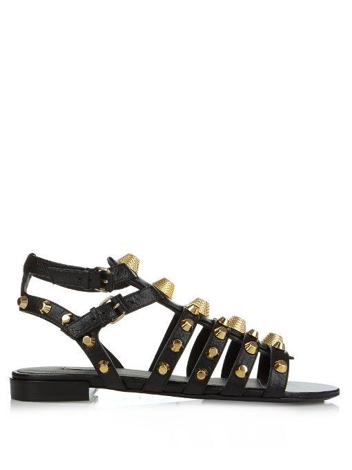 6cf4c430bdd8 Balenciaga Giant studded leather gladiator sandals
