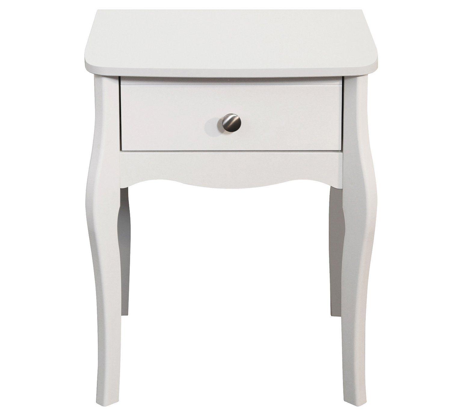 Buy Argos Home Amelie 1 Drawer Bedside Table White Bedside Tables White Nightstand Nightstand White Bedside Cabinets