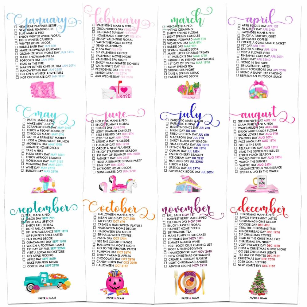 2020 Mn Christmas Tree Harvesting 2020 Seasonal Living Lists | Glam planner, Planner, Monthly