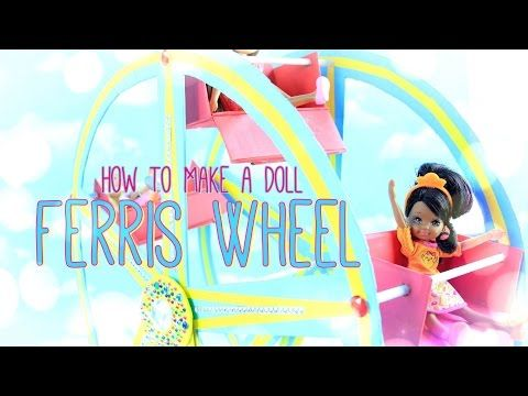 How to Make a Doll Ferris Wheel - Doll Crafts - YouTube