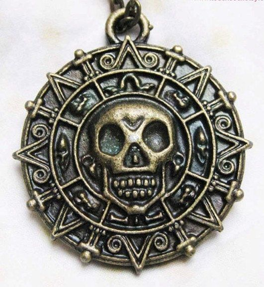 Cursed Pirate Doubloon Necklace Pirates Of The Caribbean Necklace