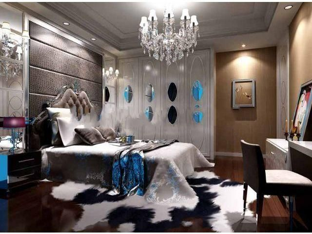 Post modern bedroom model 3d scene