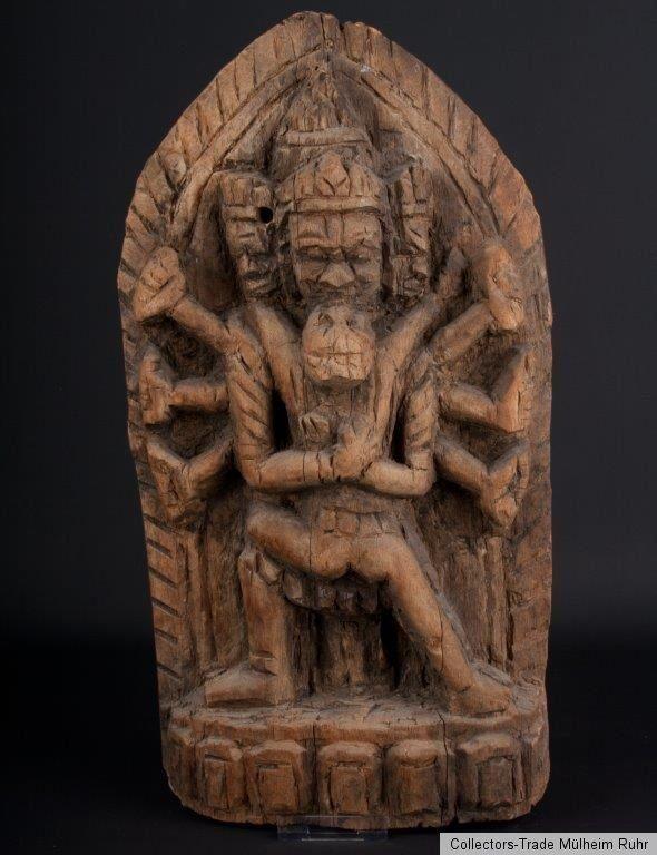 Nepal 20. Jh. Holzrelief -A Nepalese Wood Stele Samvara & Vajravarahi…