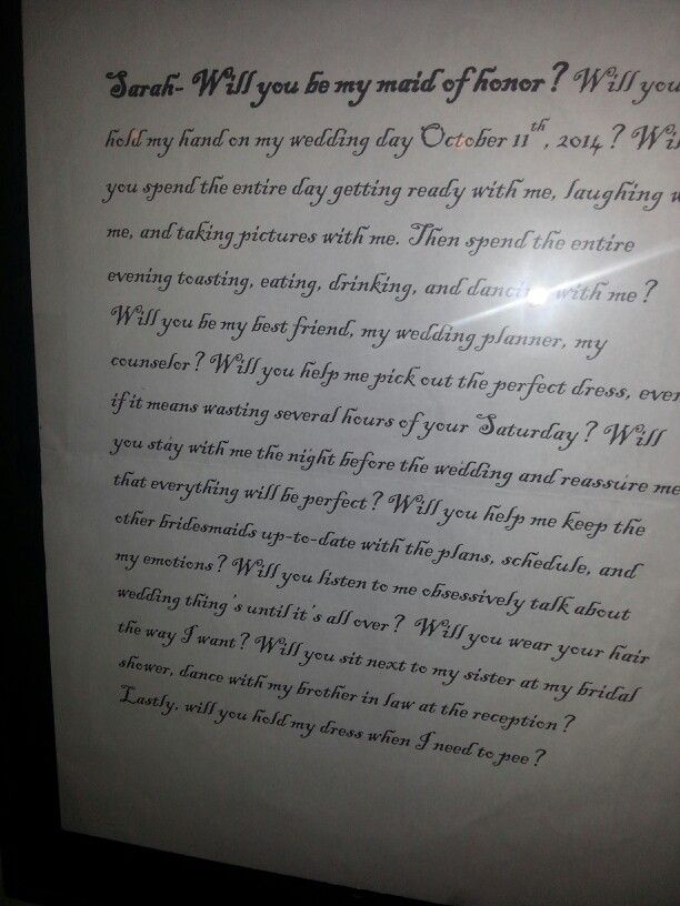The Letter To My Best Friend Asking Her Be By Side On Wedding