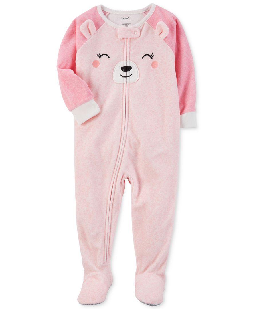 05cc51840 Carter s 1-Pc. Bear-Face Footed Pajamas