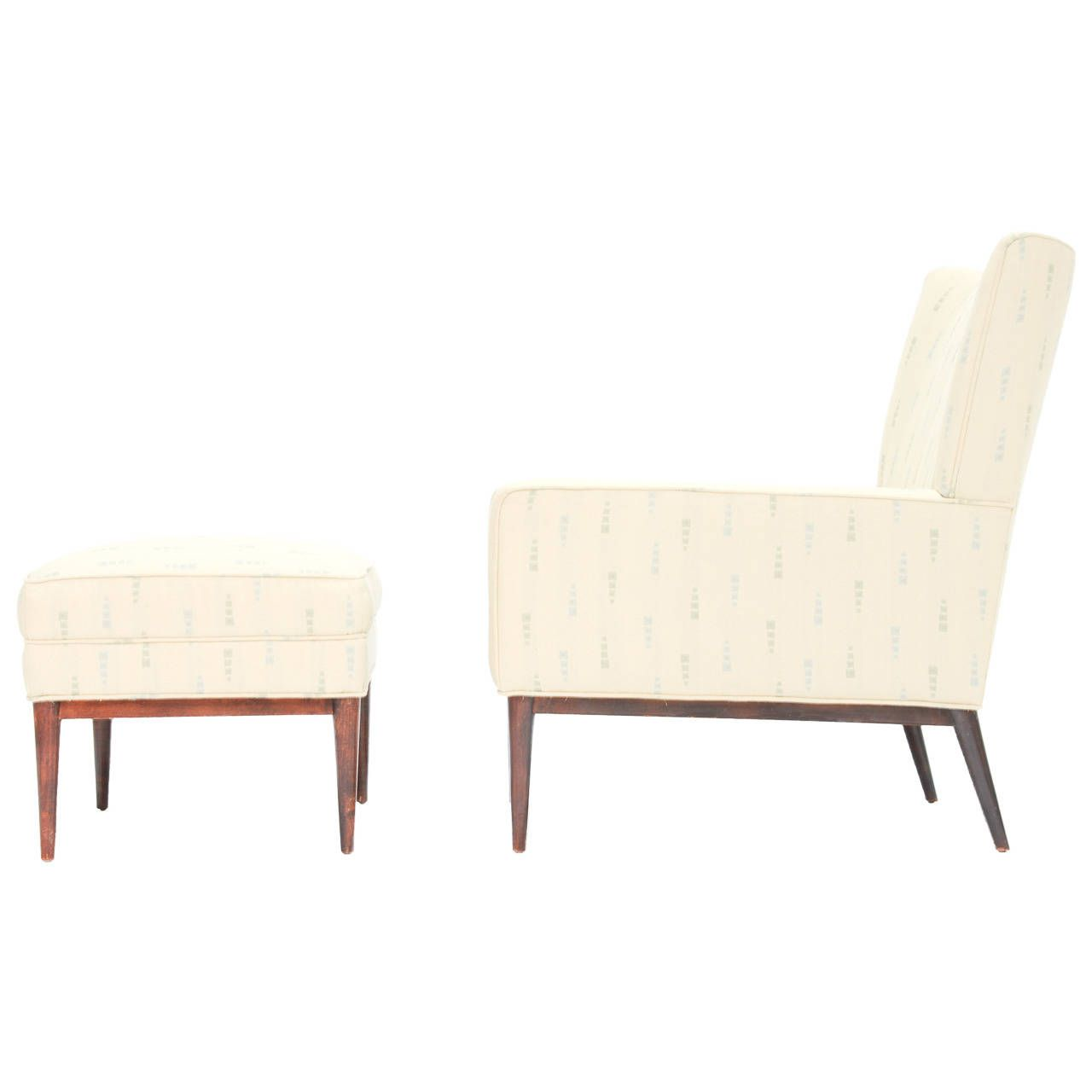 7060b39d0645 Paul McCobb 1312 High Back Club Chair and 314 Ottoman for Directional  Furniture