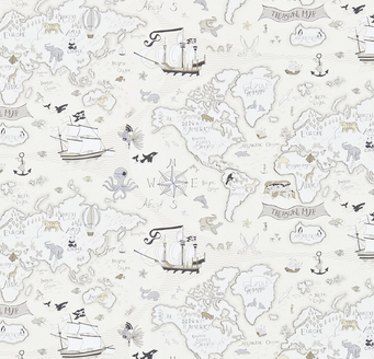 Sanderson treasure map wallpaper childrens my baby boy bedroom sanderson treasure map wallpaper childrens gumiabroncs Choice Image