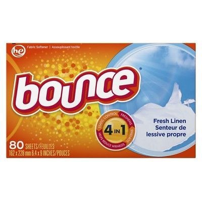 Bounce 6 Pack 160 Count Per Box Outdoor Fresh Scent Fabric Softener Dryer Sheets