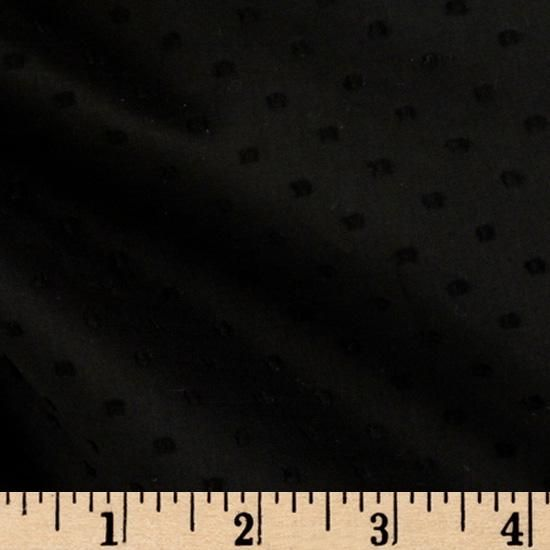 "Michael Miller Clip Dot Black from @fabricdotcom  From Michael Miller, this cotton fabric features Swiss dots, or ""clip"" dots. Perfect for heirloom projects or adding texture to quilting, apparel such as dresses and blouses, and home decor accents such as very lightweight curtains, bed skirts, or ruffle accents."