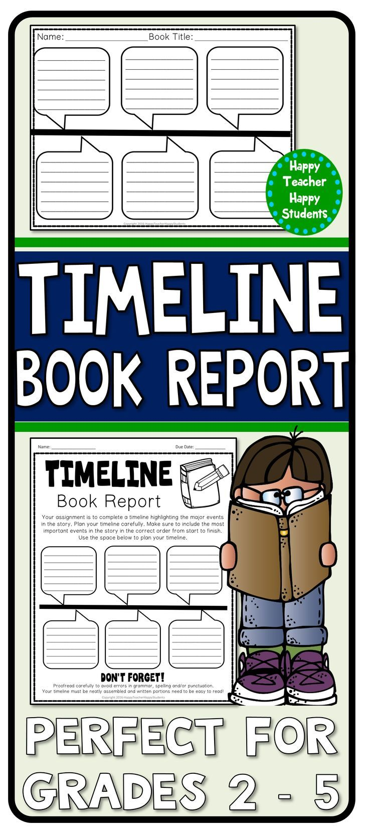 timeline book report timeline template for a fiction or non fiction