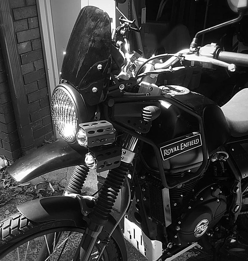 Headlight Done Right Custom Royal Enfield Himalayan From