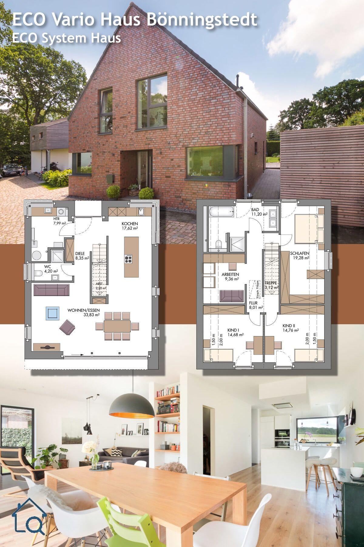 Einfamilienhaus mit Satteldach Architektur und offenem