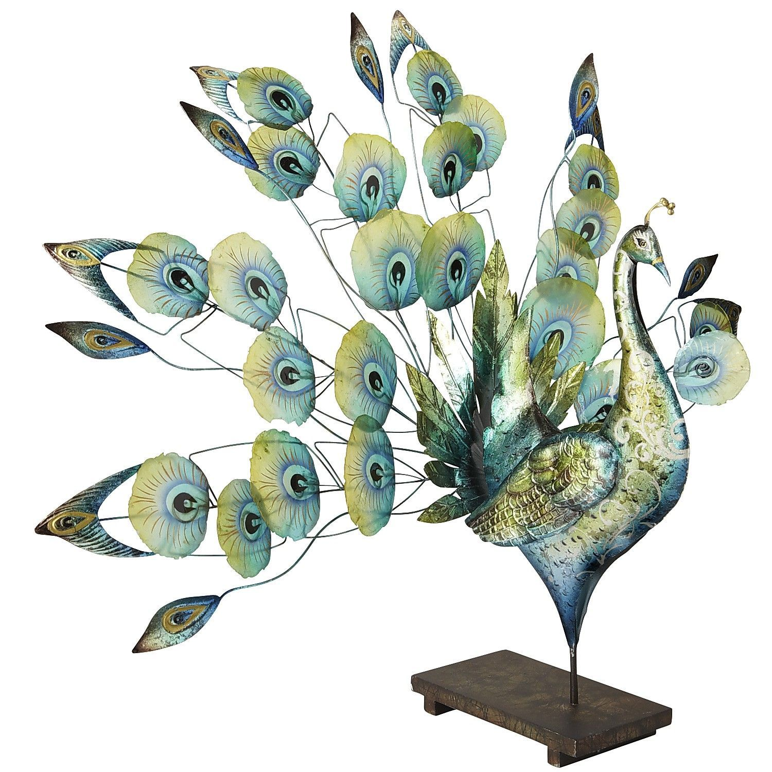 Our capiz shell peacock is beautifully handcrafted shells