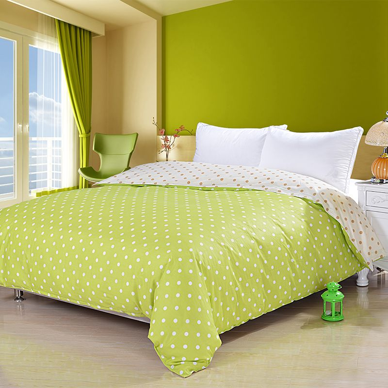 3 Pieces 100 Egyptian Cotton Lime Green Duvet Cover Set With