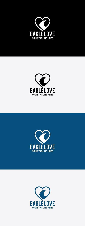 Eagle love | Logo templates, Font names, Modern logo
