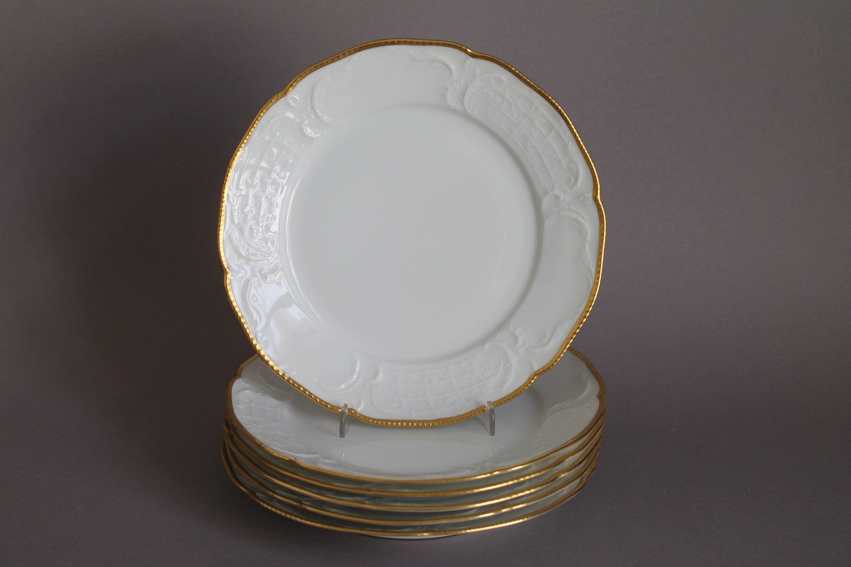 Suppenteller D 25,5 cm Rosenthal Sanssouci  weiß Blumenbouquet