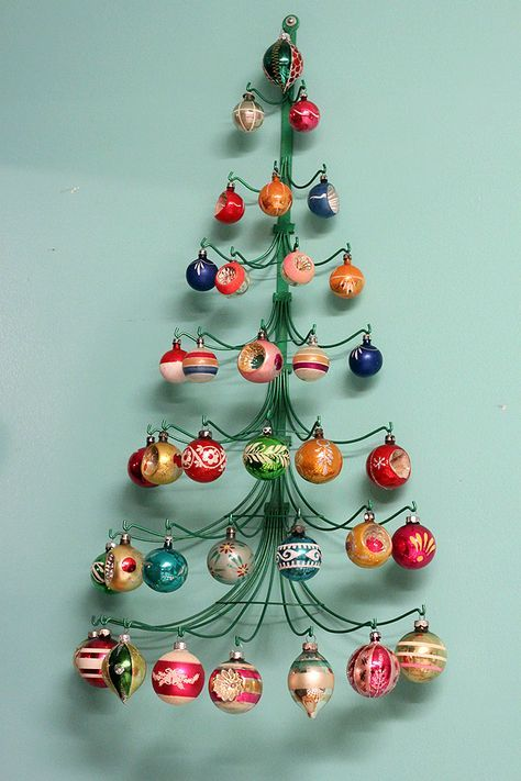 vintage christmas mid century modern christmas decoration collection mcm ornament display super cute love this