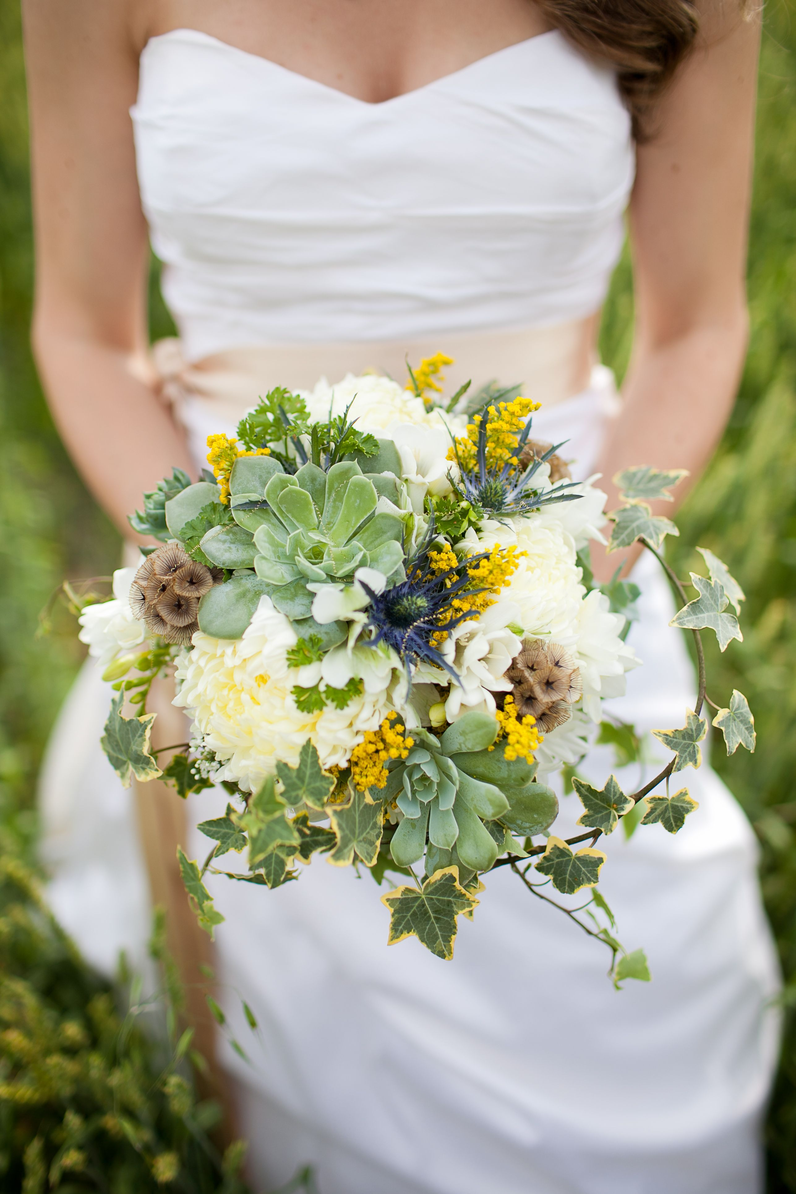 Wedding flowers bridal bouquet rustic wedding hens and chicks in wedding flowers bridal bouquet rustic wedding hens and chicks in bouquets izmirmasajfo Image collections