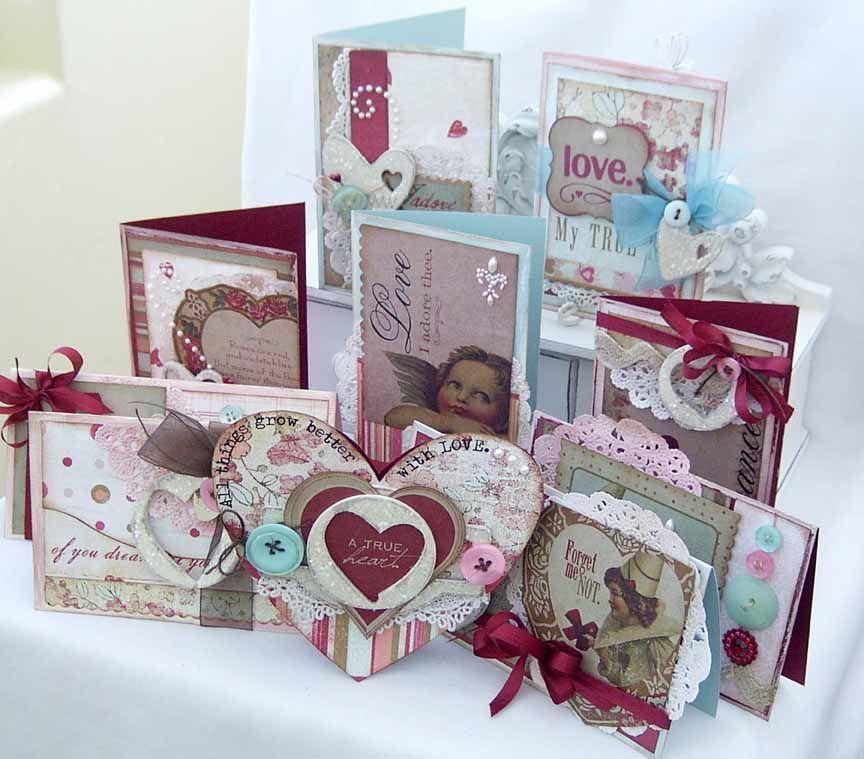 "melissa phillips  ""vintage valentine"" card  wall hanging"