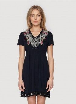 Rosalie Geo Hem Dress - Plus Sizes Black