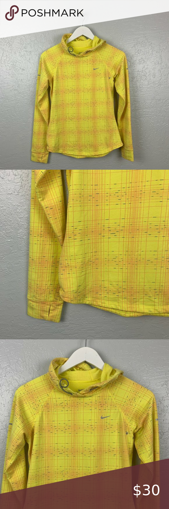 Nike Size S Soft Hang Hoodie Yellow Red Blue Plaid Yellow Hoodie Red Blue Yellow Red And Blue [ 1740 x 580 Pixel ]
