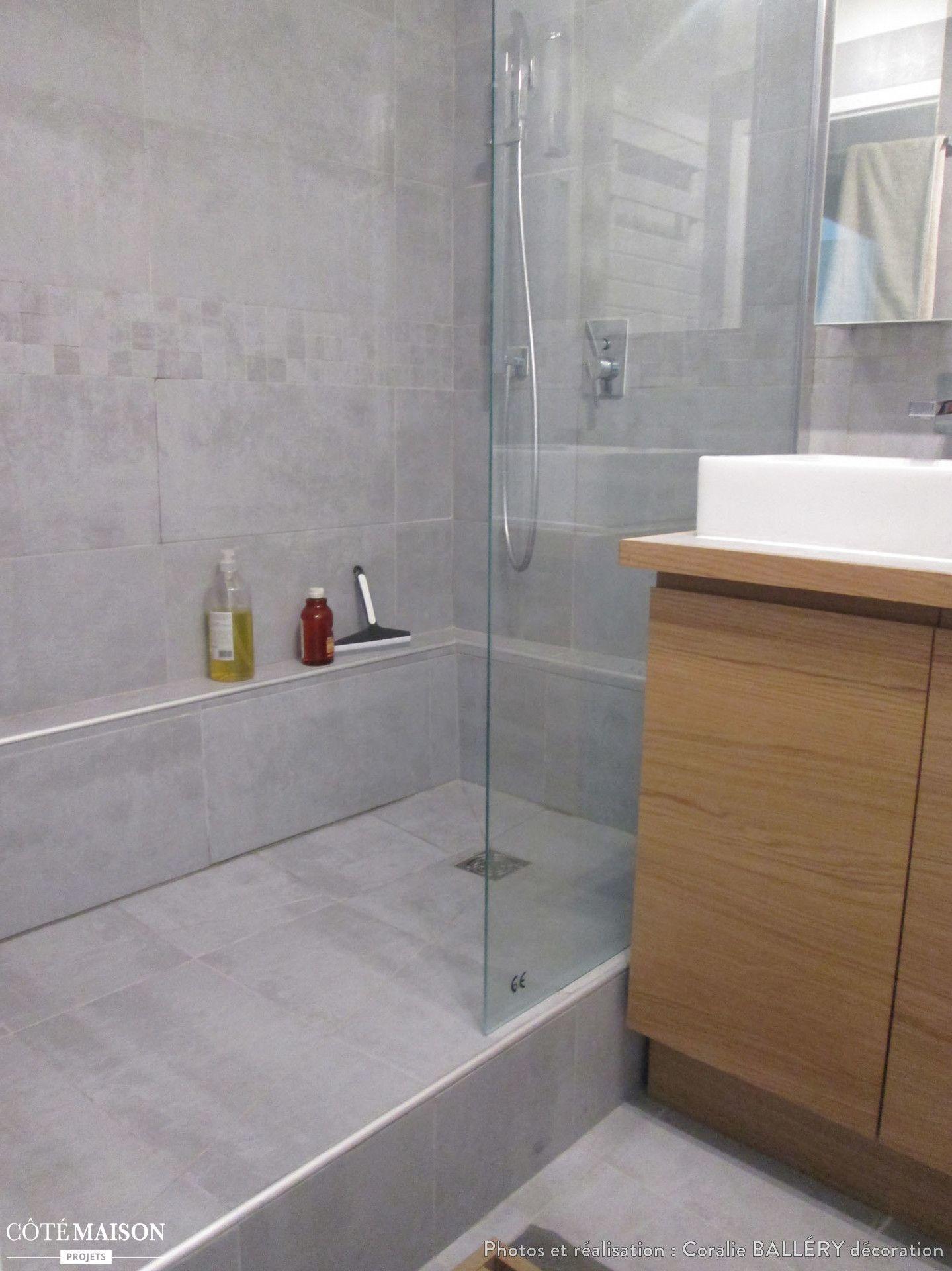 R novation d 39 une petite salle de bains paris coralie ball ry d corateur d 39 int rieur sdb for Petite salle de bain renovation