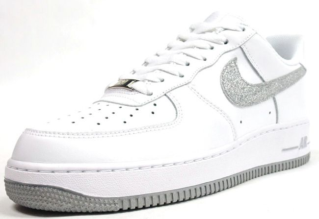 Nike womens air force glitter swoosh  65390ece02b5
