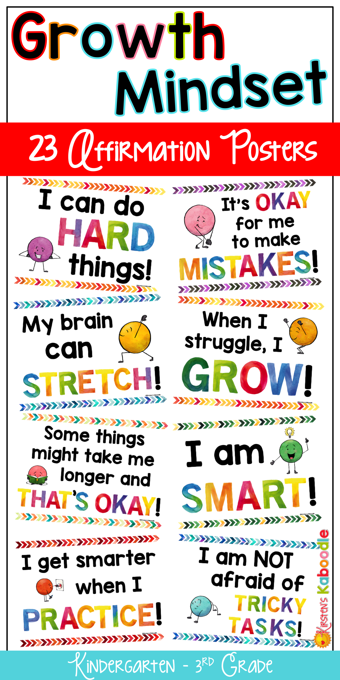 How Teachers Can Create Growth Mindset >> Growth Mindset Posters Bulletin Board Kirsten S Teachers Pay