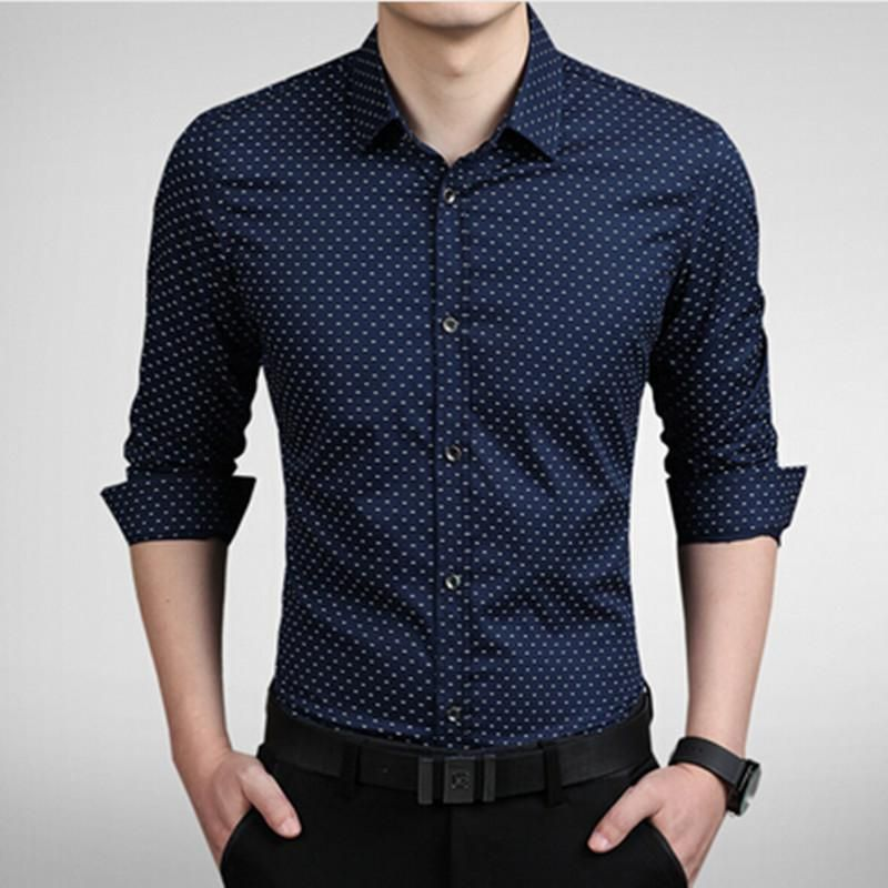 ba058b9b 2018 New Men's Shirts men Casual slim fit designer Print | That ...