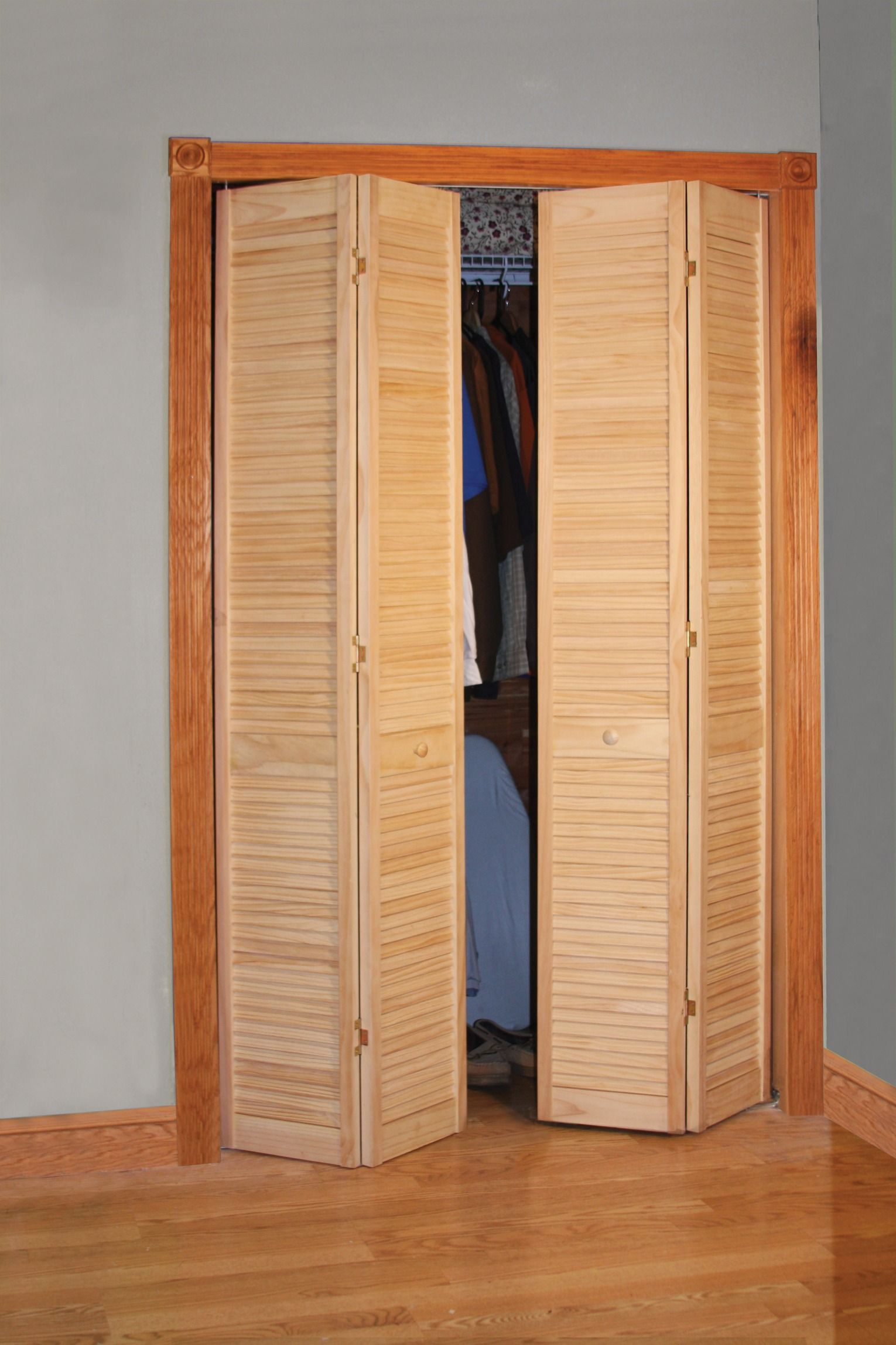 Live large in a small space! Full Louvered 2Leaf Bifold