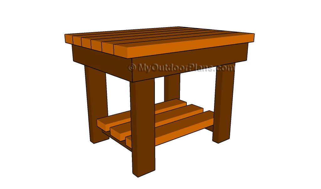 Patio end table plans Wood Work Pinterest Table plans Patios