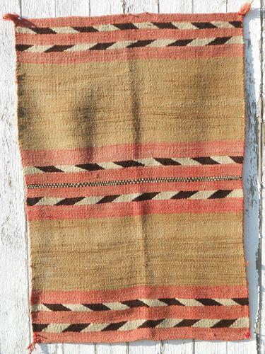 1890 Navajo Childs Wearing Blanket Churro Transitional