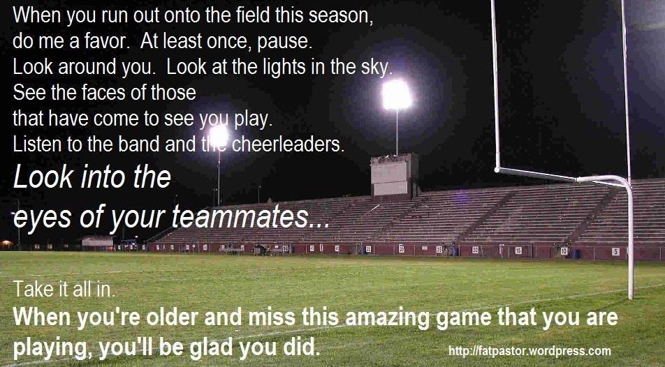 Savor the memories. | High school football player, High ...